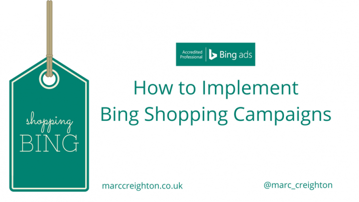 Bing Shopping Campaigns