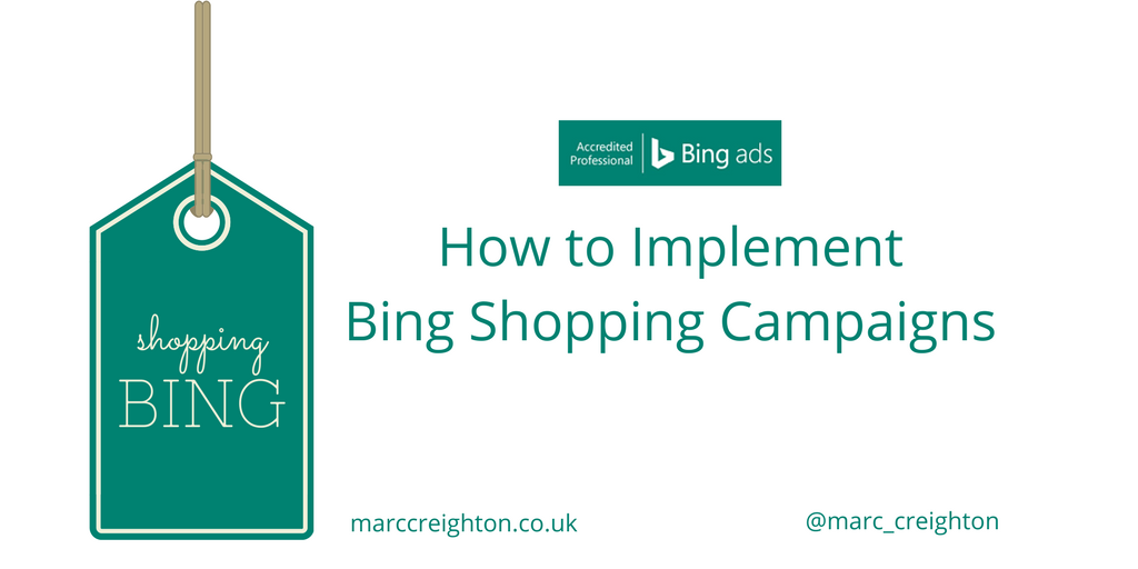 How to implement bing shopping campaigns bing certified for How to be a professional shopper