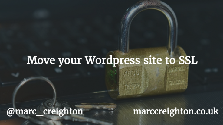 Moving Wordpress to SSL