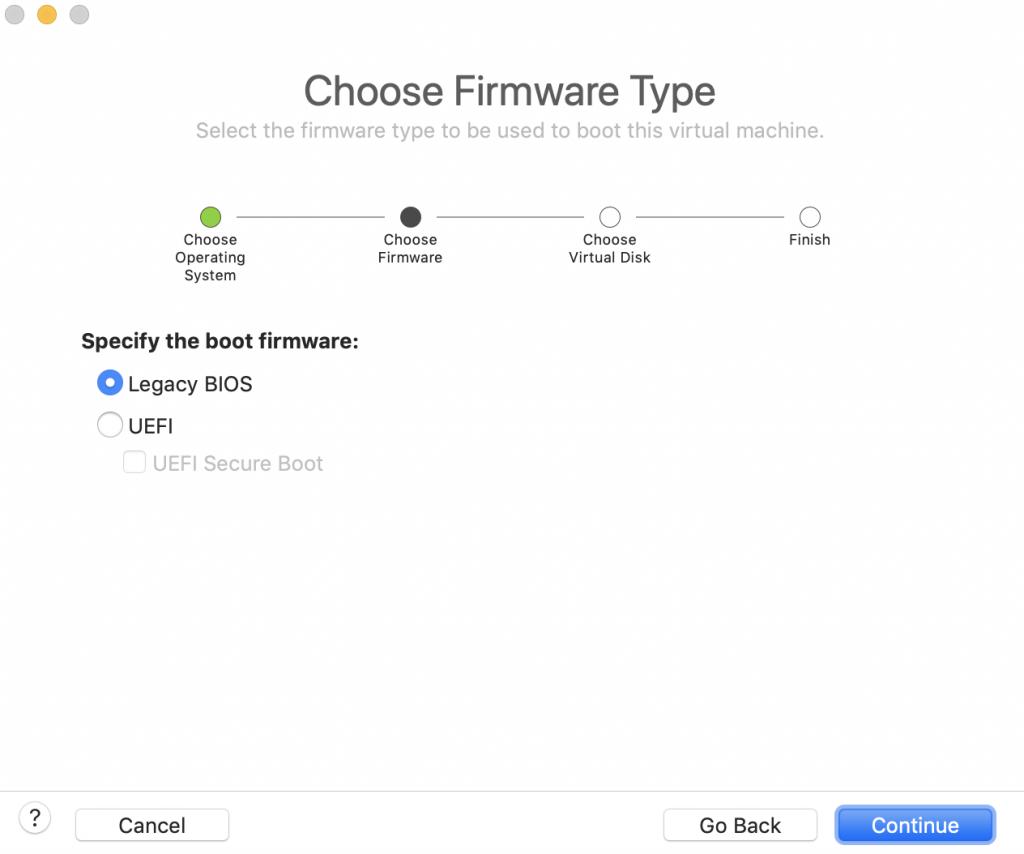 Choose firmware type