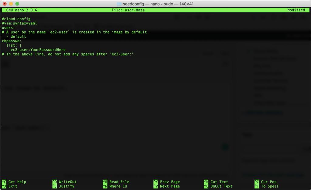 User-data terminal