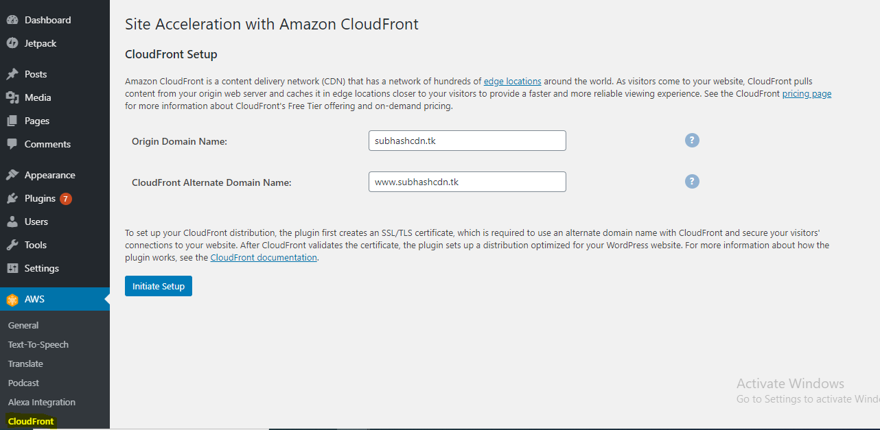 How to Connect AWS Lightsail to Cloudfront